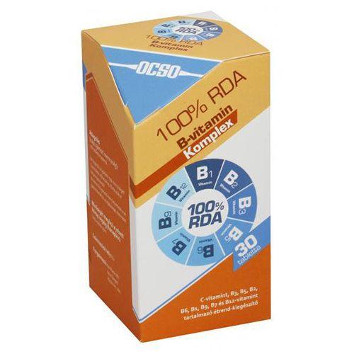 OCSO B- vitamin komplex tabletta – 30 db