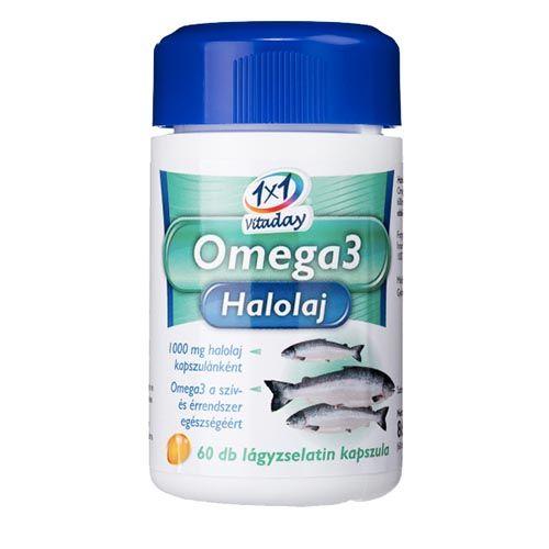1×1 Vitaday Omega-3 halolaj kapszula 60 db